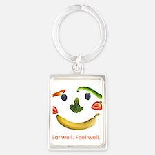 Healthy Diet Portrait Keychain