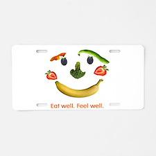 Healthy Diet Aluminum License Plate