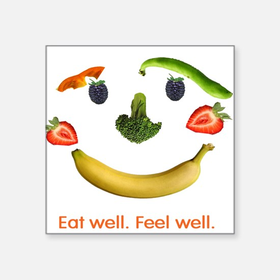 """Healthy Diet Square Sticker 3"""" x 3"""""""