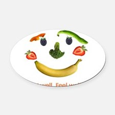 Healthy Diet Oval Car Magnet