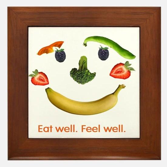 Healthy Diet Framed Tile