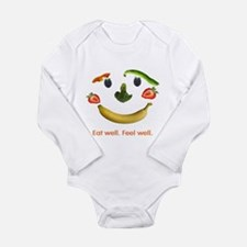 Healthy Diet Long Sleeve Infant Bodysuit