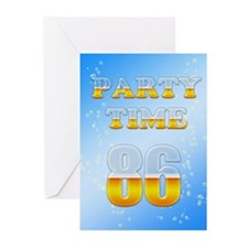 86th birthday party beer Greeting Cards (Pk of 10)