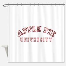 Apple Pie University Shower Curtain