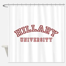 hillary-u-all.png Shower Curtain
