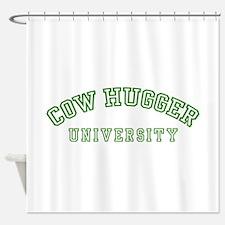 Cow Hugger University Shower Curtain