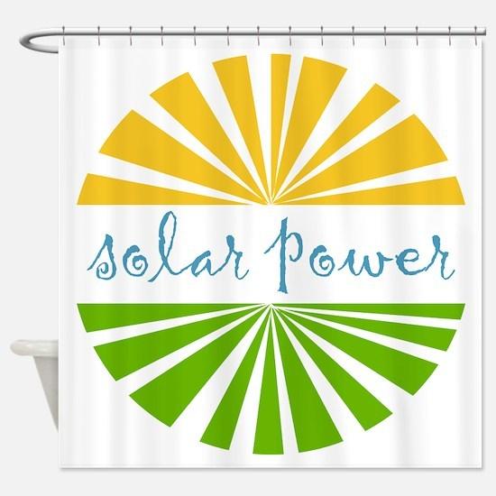Solar Power Shower Curtain