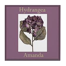 Amanda Morning Glory Floral Tile Coaster