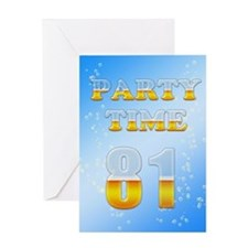 81st birthday party beer Greeting Card