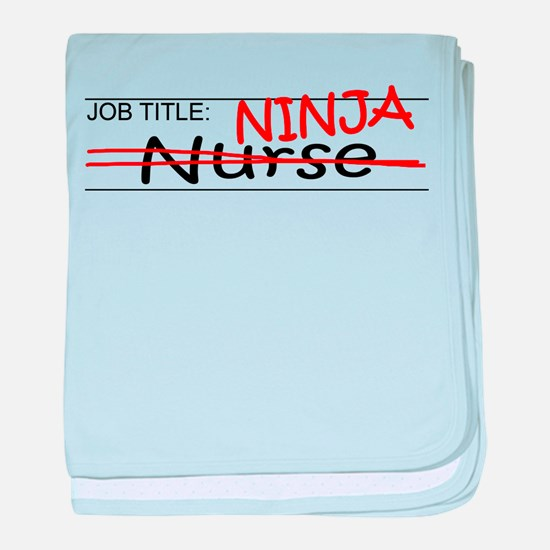 Job Ninja Nurse baby blanket