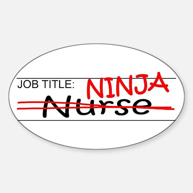Job Ninja Nurse Decal