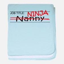 Job Ninja Nanny baby blanket