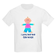 I LOVE POP POP GIRL Kids T-Shirt