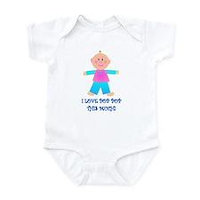 I LOVE POP POP GIRL Infant Bodysuit
