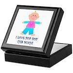 I LOVE POP POP GIRL Keepsake Box