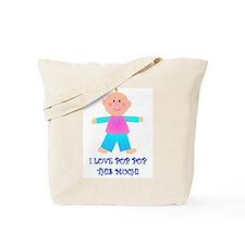 I LOVE POP POP GIRL Tote Bag