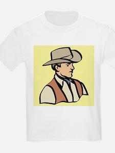 cowboy on yellow T-Shirt