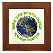 Keep the Earth Clean Framed Tile