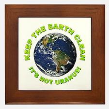 Keep the Earth Clean Framed Tile