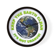Keep the Earth Clean Wall Clock
