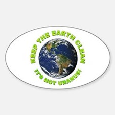 Keep the Earth Clean Oval Decal