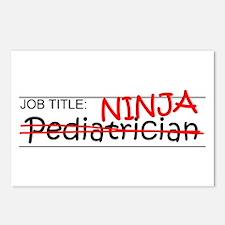 Job Ninja Pediatrician Postcards (Package of 8)