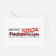 Job Ninja Pediatrician Greeting Card