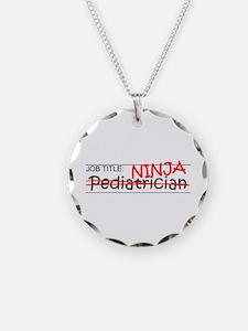 Job Ninja Pediatrician Necklace Circle Charm