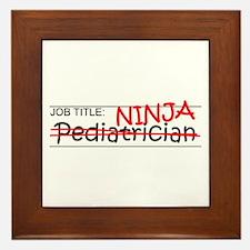 Job Ninja Pediatrician Framed Tile