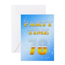 78th birthday party beer Greeting Card