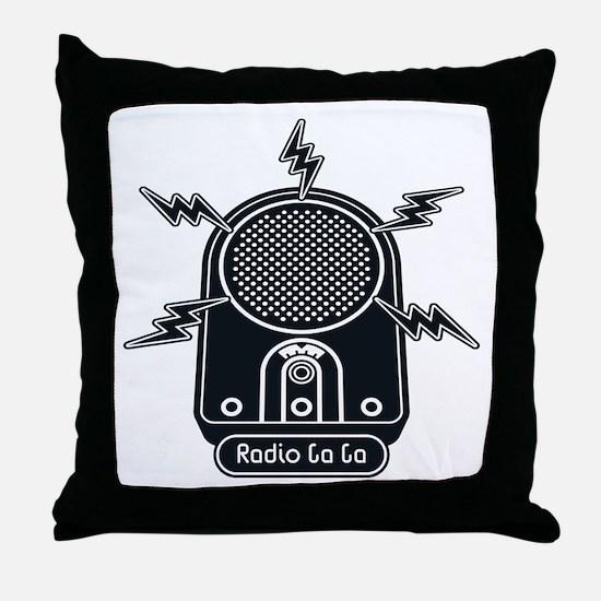 Radio Ga Ga Throw Pillow