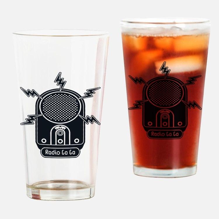Radio Ga Ga Drinking Glass