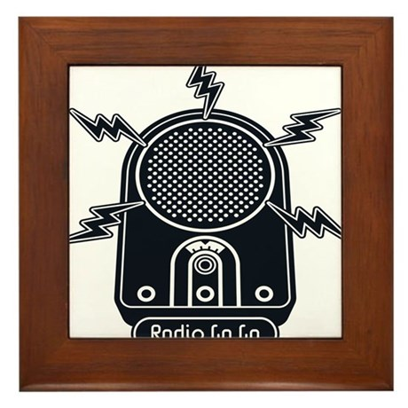 Radio Ga Ga Framed Tile