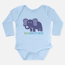 Big Brother Elephant Long Sleeve Infant Bodysuit