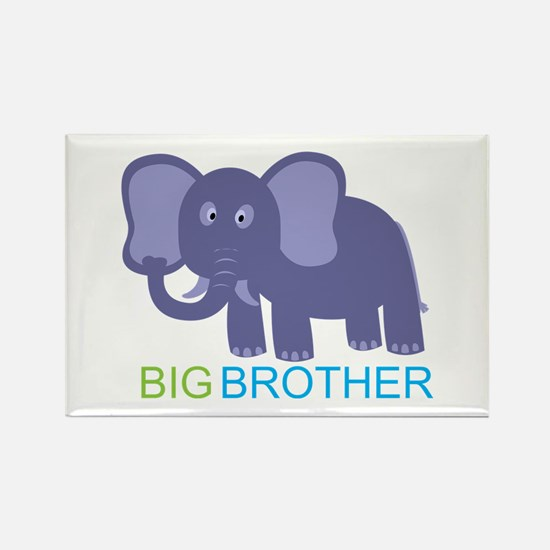 Big Brother Elephant Rectangle Magnet