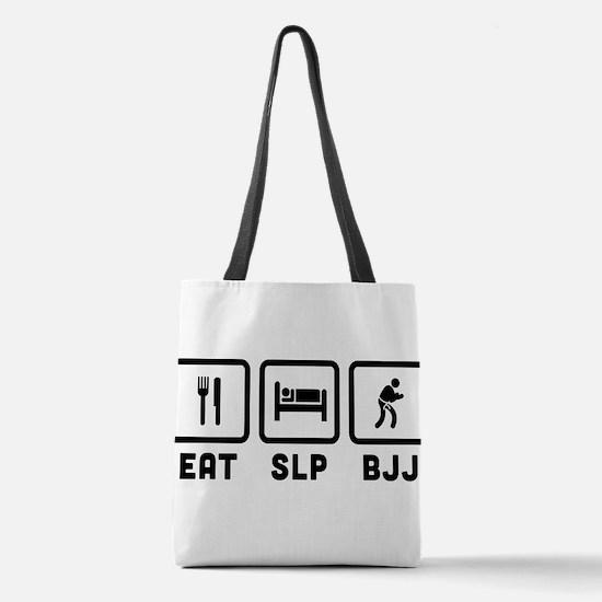Eat Sleep BJJ Polyester Tote Bag