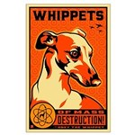 WHIPPETS WMD Atomic Dog Large Poster