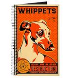 Whippet notebook Journals & Spiral Notebooks