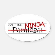 Job Ninja Paralegal Oval Car Magnet