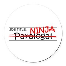 Job Ninja Paralegal Round Car Magnet