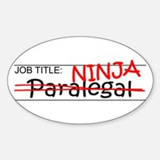 Job Ninja Paralegal Decal
