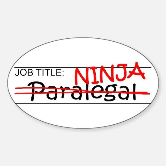 Job Ninja Paralegal Sticker (Oval)