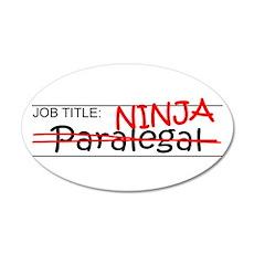Job Ninja Paralegal Wall Decal