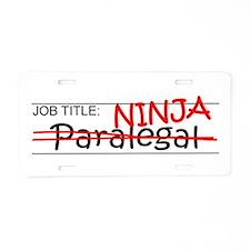 Job Ninja Paralegal Aluminum License Plate