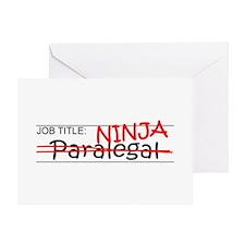 Job Ninja Paralegal Greeting Card