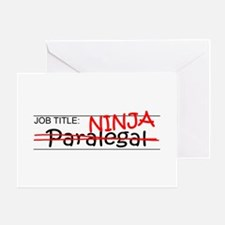 Job Ninja Paralegal Greeting Card