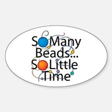 So Many Beads.... Oval Decal
