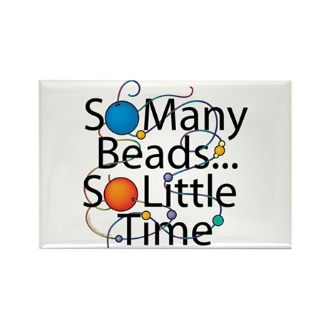 So Many Beads.... Rectangle Magnet