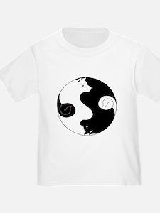 Ying Yang Akita T-Shirt
