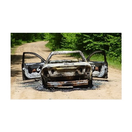 Burnt Car Wall Decal